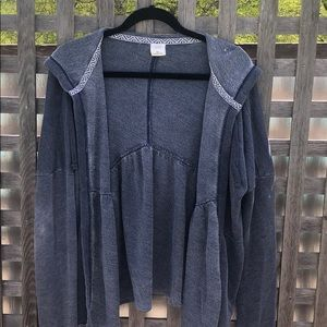 Abercrombie & Fitch gray blue hooded cardigan